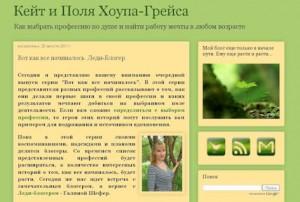 Интервью сЛеди-блогер в Кейт и Поля Хоупа-Грейса