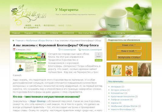 Обзор блога Леди-блогер У Маргариты